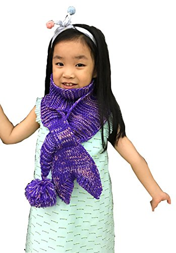 Price comparison product image LAGHCAT Mermaid tail Scarf Best Gift for Baby Toddler Knit Scarves,Purple