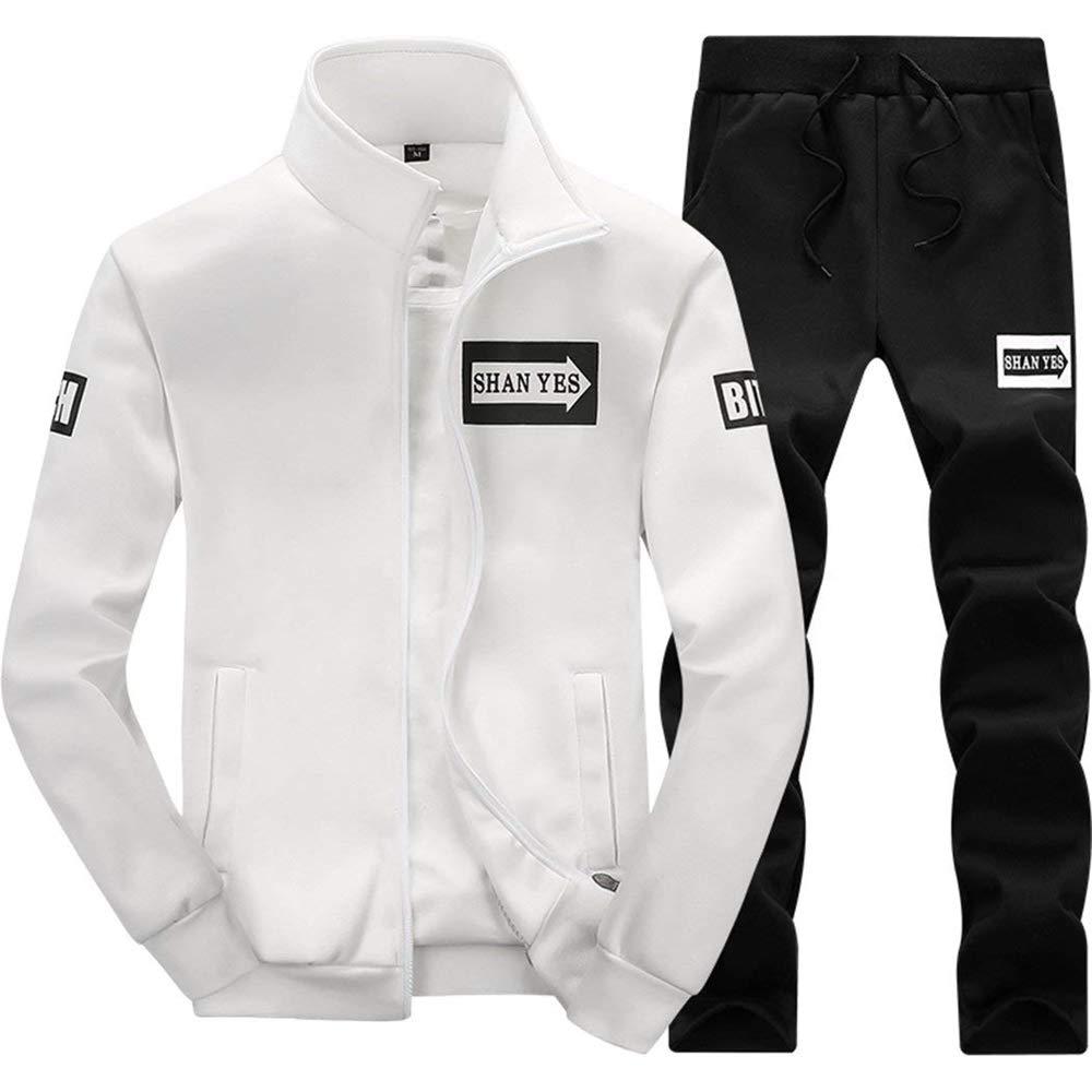 Mens Fashion Tracksuit Sports Sets Jacket /& Pants Casual Sweat Suits