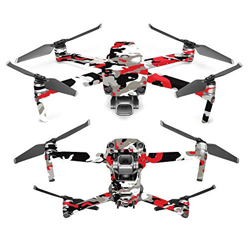 MightySkins Skin for DJI Mavic 2 Pro or Zoom - Red Camo | Protective, Durable, and Unique Vinyl Decal wrap Cover | Easy to Apply, Remove, and Change Styles | Made in The USA