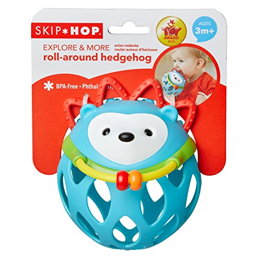 51wG7UdVaWL - Skip Hop Explore and More Roll Around Rattle Toy, Hedgehog