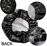 EIGIIS Spare Tire Cover for Jeep, Leather