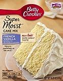 Betty Crocker Super Moist Cake Mix French Vanilla 15.25 oz Box (pack of 6)