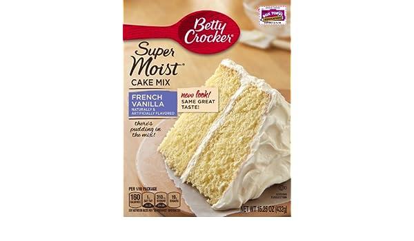 Betty Crocker Super Moist French Vanilla Cake Mix - 432 gr: Amazon.es: Alimentación y bebidas