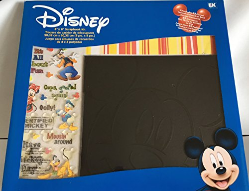 Disney 8x8 Postbound Scrapbook Photo Album Kit MICKEY MOUSE Black