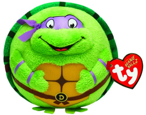 Nickelodeon Ty Beanie Ballz Donatello Purple Mask]()