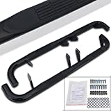 Spec-D Tuning SSB3-H203BK-WB Hummer H2 Black Stainless Steel Running Boards Side Step Nerf Bars