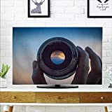 aolankaili Cover for Wall Mount tv The Scene in The Camera Cover Mount tv W30 x H50 INCH/TV 52''