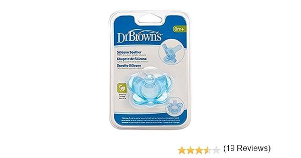 Dr. Browns PS11004-INTL - Chupete de silicona, 0 meses