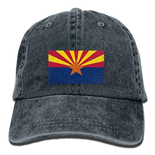 IEHFE Men Women Classic Denim Arizona State Flag Adjustable Baseball Cap Dad Hat Low Profile Perfect for Outdoor