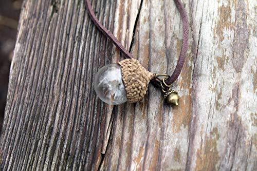 - Dandelion necklace, Terrarium necklace, Peter Pan necklace, Glass acorn necklace, Make a wish necklace, Oak leaf necklace, Autumn necklace