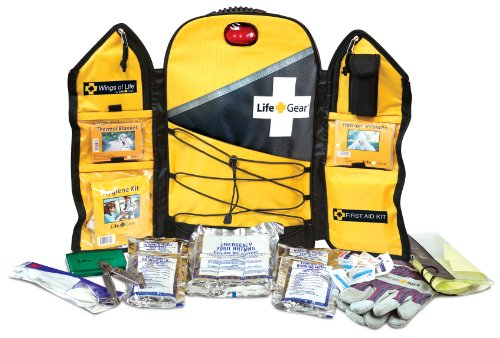 Life Gear Wings of Life Emergency Survival Kit - Disaster and Emergency Preparedness Bug Out Bag, 3 Day (72 hour) Kit Food, Water, First Aid and Tools For 1 Person by Life Gear
