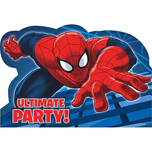 8-Count Spider-Man Invitations