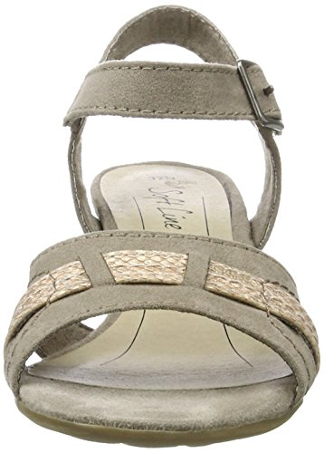 Softline Women's 28361 Wedge Heels Sandals Beige (Lt. Taupe 347) KGdiVhj