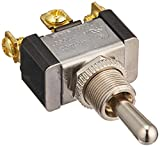 Toggle Switch, Maintained Contact and Single Pole, On Off On Circut Function, SPDT, Brass/Nickel Actuator, 20/10 amps at 125/250 VAC, Screw Connection
