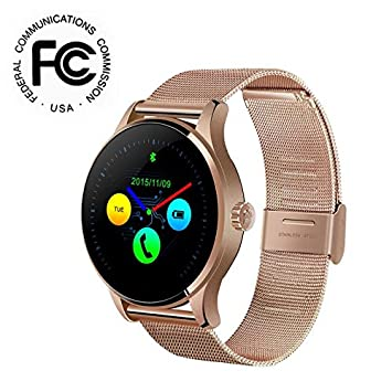 Reloj inteligente smartwatch android con Bluetooth Fitness Tracker,Pulsómetro Pulsera Reloj Actividad Pulsera Smartband, Sueño, Notificación de SMS soporte ...