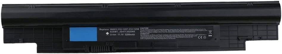 Bay Valley Parts 6-Cells 11.1V 5200mAh New Replacement Laptop Battery for DELL: 268X5 312-1257 312-1258 H2XW1 JD41Y N2DN5 H7XW1 Inspiron N311z Inspiron N411z Latitude 3330 Vostro V131 Vostro V131D