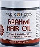 Brahmi Hair Oil (8 oz) | all natural herbal hair oil for hair growth, hair conditioning, dandruff and dry scalp | herbal scalp treatment