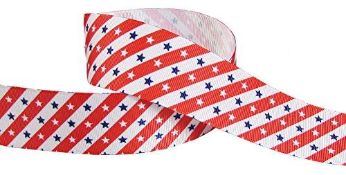 Felt Purple Star Wand (HipGirl Boutique Preppy Stripe Grosgrain Ribbon--Patriotic, American Flag Ribbon (20yd 1.5