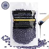 painless Hair Removal Hard Wax Beans, LuckyFine Body Wax Beans Depilatory Wax Beans Painless Lavender Wax Full Body Bikini Wax for Women Men Purple