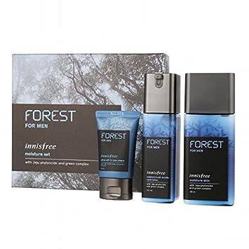 KOREAN COSMETICS, Innisfree, Forest for men moisture set Moisturizer Skin 180ml Moisturizer Anti-Wrinkle Lotion 120ml Ultra all-in-one cream 30ml
