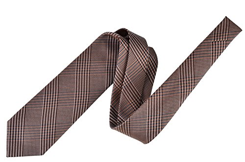 Tom Ford Tie Men's Checkered Brown Silk Wool by Tom Ford