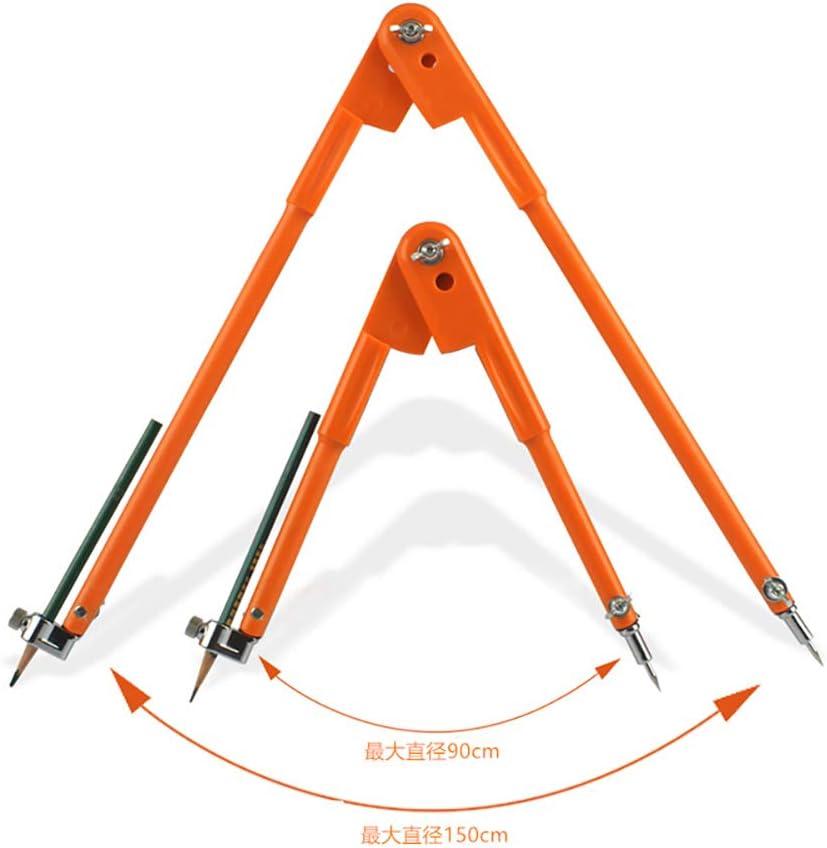 90 cm gro/ßer Durchmesser Kompass-Werkzeug f/ür Holzbearbeitung Markieren und Kritzen rot TreA2Sure 1 x Schreiner-Kompass-Schreiber verstellbare Trennbl/ätter