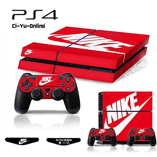 Ci-Yu-Online-PS4-ShoeBox-Nike-Logo-Shoe-Box-Light-Bar-Whole-Body-VINYL-SKIN-STICKER-DECAL-COVER-for-PS4-Playstation-4-System-Console-and-Controllers