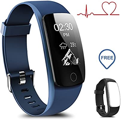 Coffea Fitness Tracker, H7-HR Activity Tracker : Heart Rate Monitor Wireless Bluetooth Smart Wristband Bracelet, Waterproof Fitness Watch with Replacement ...