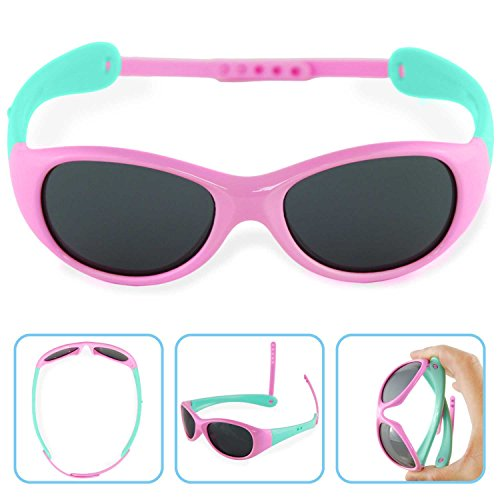 Boys Girls Kids Polarized UV Protection Sunglasses NSS0701pink