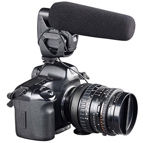 ATNY ATM-929 Shotgun Camera Video Microphone Super-Cardioid Directional Condenser Photography Interview Lightweight Video Microphone for Nikon/Canon Camera/DV Camcorder by ATNY