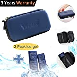 Diabetic Insulin Storage Cooler Bag - Waterproof Portable Insulated Medicine Ergency Medical Kit Cold Carrying Thermal Insulin Travel Pen Carrying Bag for Men Women with 2 Ice Pack(Navy)