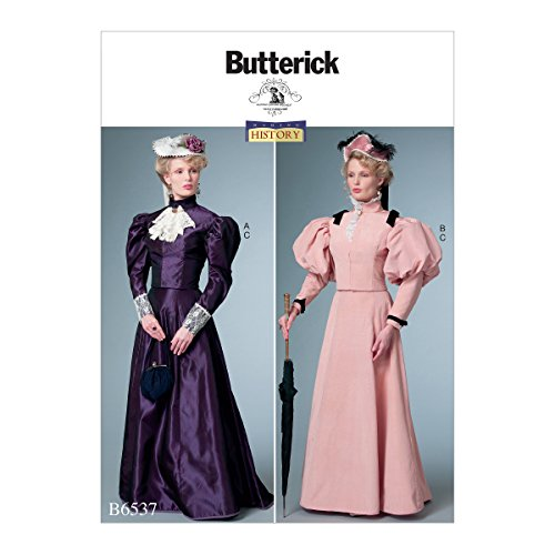 Butterick B0788DFRG7 Women's Victorian Shirt and Skirt Costume Sewing Pattern, Sizes 14-22