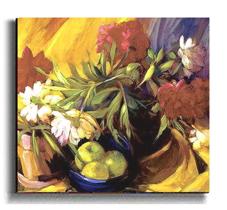 Peonies and Apples by Philip Craig Premium Stretched Canvas (Ready to Hang)