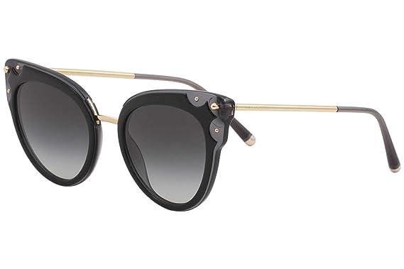 f354b80bf7 Image Unavailable. Image not available for. Color: Dolce & Gabbana Women's  D&G DG4340 DG/4340 501/8G Black Cat Eye Sunglasses