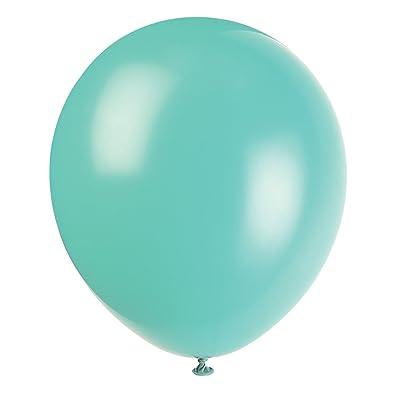 "12\"" Latex Sea Foam Aqua Balloons, 10ct: Kitchen & Dining [5Bkhe0201874]"