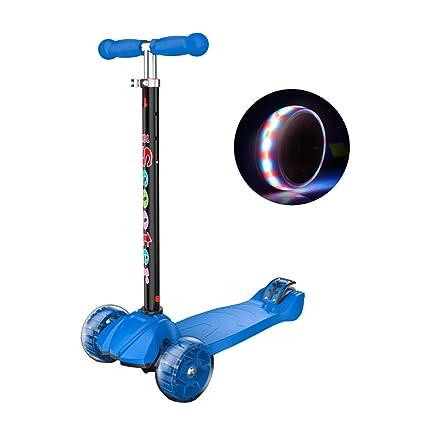Patinetes clásicos Kick Scooter con manija Ajustable, Scooter para niños con 4 Ruedas de Destello
