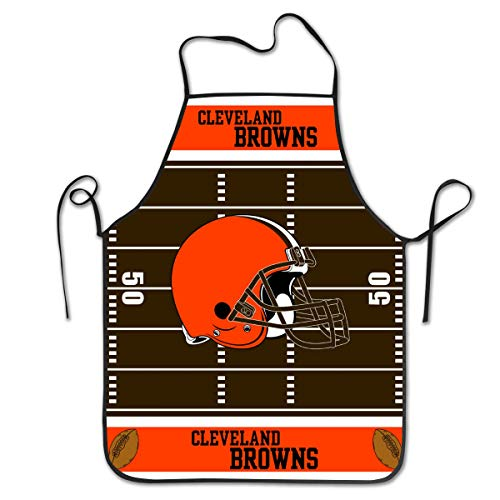 Gdcover Custom Cleveland Browns Kitchen Chef Apron Unisex Kitchen Bib Cooking Baking Gardening for Men Women