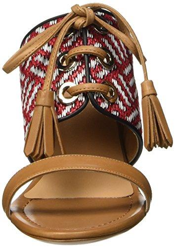 Multicolore cuoio Donna Sandali Kallisté 5731 bianco mehrfarbig rosso w166SvAq