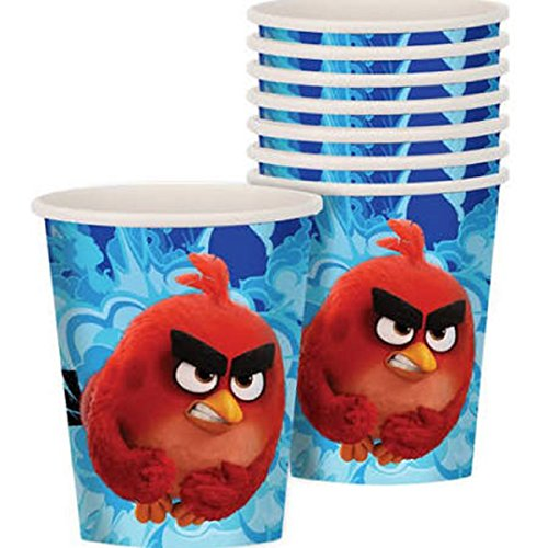 ANGRY BIRDS MOVIE 9oz PAPER CUPS (8) ~ Birthday Party Supplies Beverage Drinking