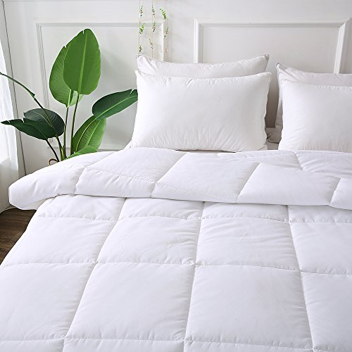- DECROOM Clearance Sale,White Comforter Queen Full Size, Down Alternative Quilted Duvet Insert Queen,3M Moisture-wicking Treament,Light Weight Soft and Hypoallergenic for All Season Comforter