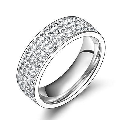 AnaZoz joyas Colorful Cristal Acero Inoxidable Anillos de boda anillos para las mujeres: Amazon.es: Juguetes y juegos
