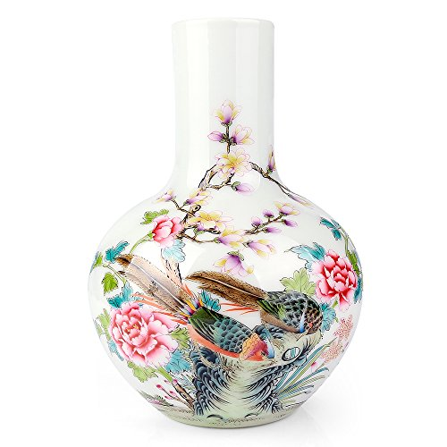 Oriental Hand Painted Porcelain (Traditional Chinese Ceramic Decorative Jar Vase,Jingdezhen Oriental Handcrafted Porcelain Decro)