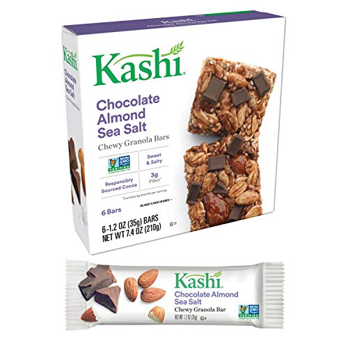 Kashi, Chewy Granola Bars, Chocolate Almond Sea Salt, Non-GMO Project Verified, 7.4 oz (6 Count)(Pack of 8) by Kashi (Image #3)