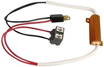 RH7 - Error gratuito LED de carga Resistencias Adaptador de cableado Decoder Advertencia cancelador para lámparas Bombilla LED con H7 Socket: Amazon.es: ...