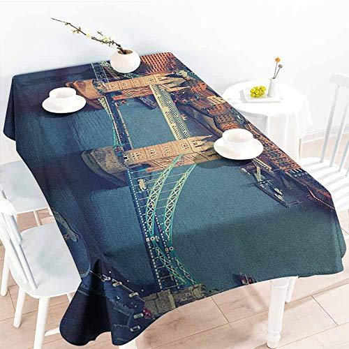 EwaskyOnline Fashions Rectangular Table Cloth,London London Aerial View