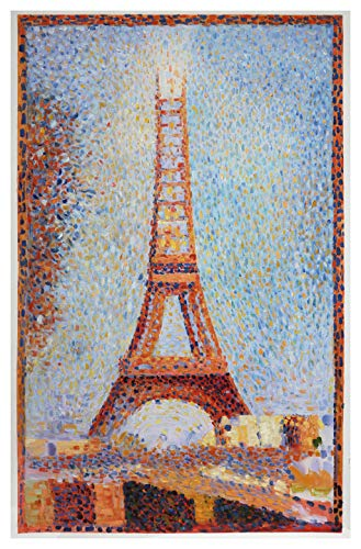 The Eiffel Tower - George Seurat hand-painted oil painting reproduction,La Tour Eiffel, Famous World Architecture Art landscape,Office Decor
