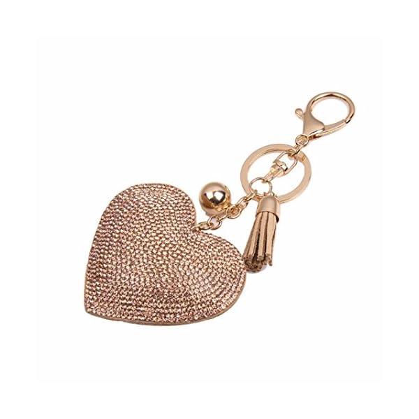 Clearance!Key Chain,Canserin Love Rhinestone Tassel Keychain Key Ring