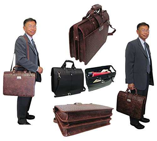 AmeriLeather Leather Doctor's Carriage Bag (Waxy ()