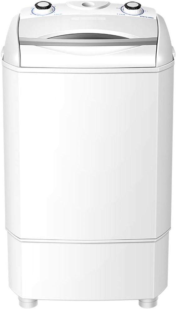 A Washing Machine AmpliacióN De Gran Capacidad Lavadora, Solo Cilindro De Lavado Individual Barril DoméStica PequeñA Lavadora Semi-AutomáTica De 465 * 490 * 795 MM (Blanco)