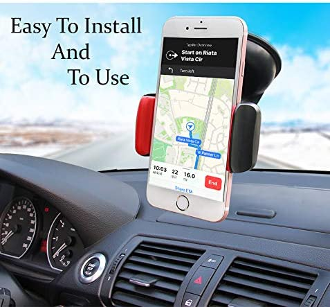360/° Rotation Universal Smartphone Stand Phone Mount for Car Dashboard /& Windshield Non-Damaging Vacuum-Seal Grip Compatible with Many Kind of Phones.